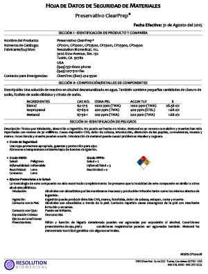 MSDS-CP20008-01-ClearPrep-Preservative-SPANISH-img