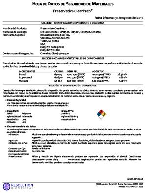 MSDS-CP20008-01-ClearPrep-Preservative-SPANISH-img